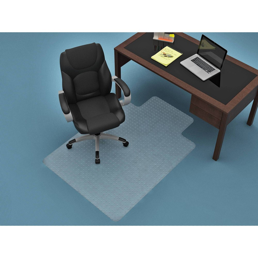 Image of 46 x 60 Flat Pile Rectangular Chair Mat Clear - Monroe + James