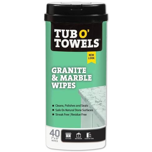 Tub O' Towels Granite & Marble Wipes - 40ct - image 1 of 4