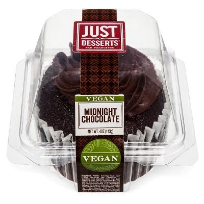 Just Desserts Vegan Midnight Chocolate Cupcake - 4oz