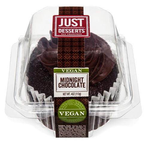 Just Desserts Vegan Midnight Chocolate Cupcake - 4oz - image 1 of 4