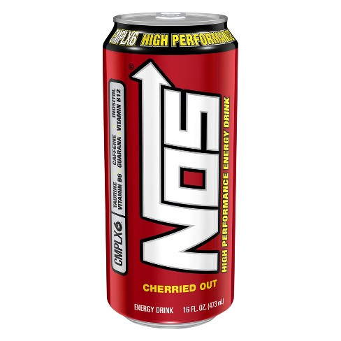 NOS® High Performance Cherried Out Energy Drink - 16 fl oz Can - image 1 of 1