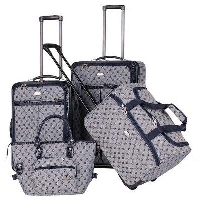 American Flyer Signature 4-Piece 24 , 20 , 18 & 12  Soft Luggage Set - Navy