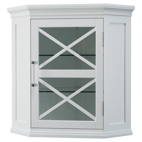 Wall Corner Cabinet White - Elegant Home Fashions - image 1 of 4