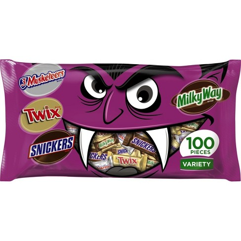 3 muskateers twix snickers and milky way halloween variety bag