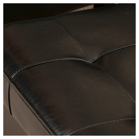 Outstanding Chatham Bonded Leather Storage Ottoman Black Christopher Knight Home Cjindustries Chair Design For Home Cjindustriesco