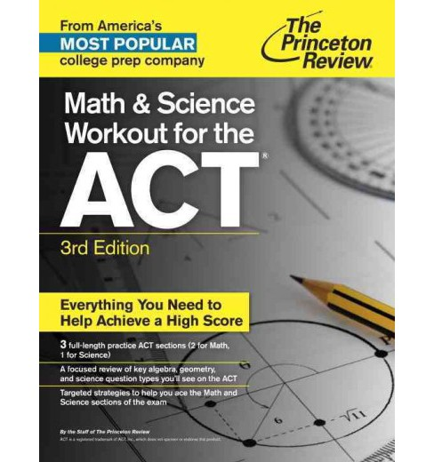 Princeton Review Math and Science Workout for the ACT (Paperback) - image 1 of 1
