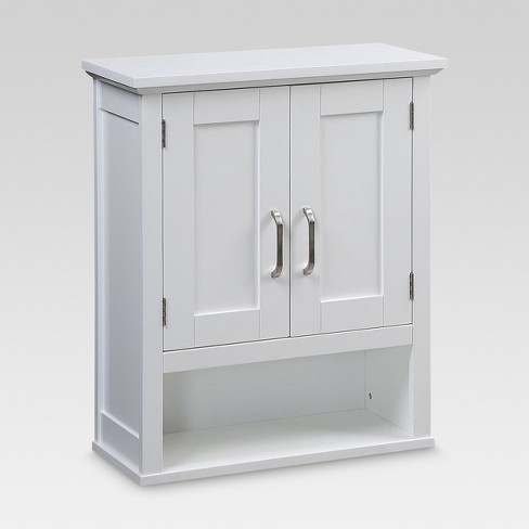 Wood Wall Cabinet White Threshold Target