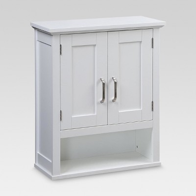 Merveilleux Wood Wall Cabinet White   Threshold™