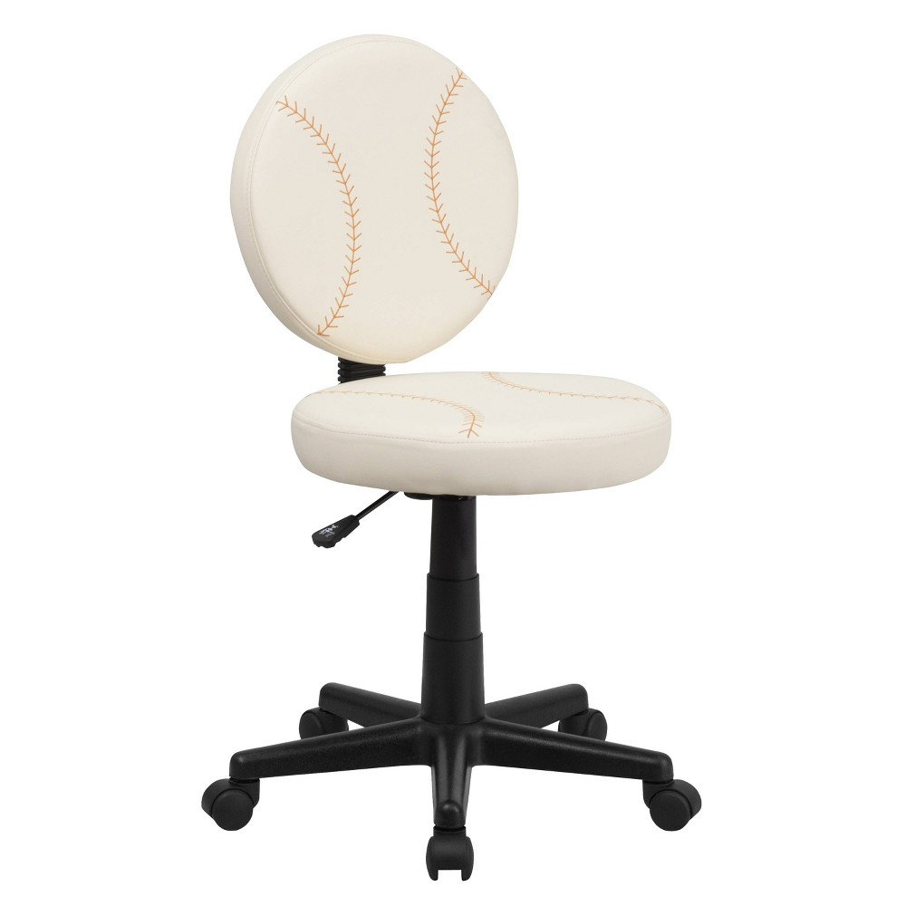 Image of Baseball Task Chair - Flash Furniture, White