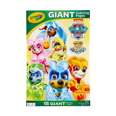 Crayola Paw Patrol Giant Coloring Pages : Target