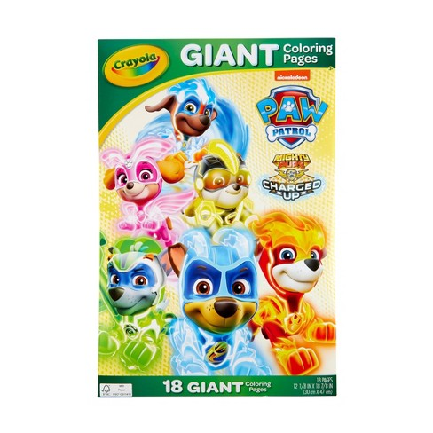 Crayola Paw Patrol Giant Coloring Pages Target