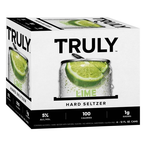 Truly Lime Hard Seltzer - 6pk/12 fl oz Slim Cans - image 1 of 3