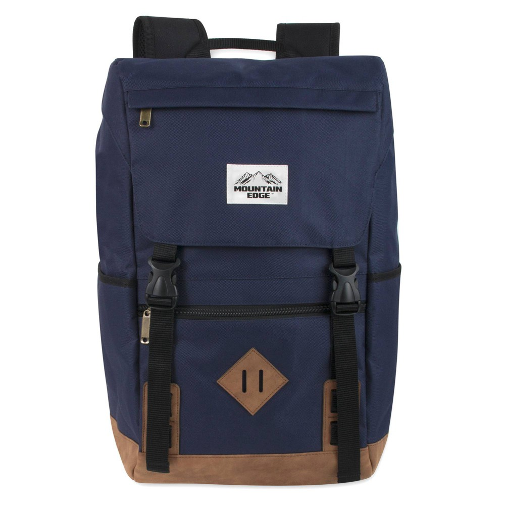 """Image of """"Mountain Edge 19"""""""" Deluxe Drawstring Backpack - Blue"""""""