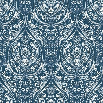 NuWallpaper Bohemian Damask Indigo Peel & Stick Wallpaper