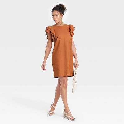 Women's Ruffle Short Sleeve Dress - A New Day™