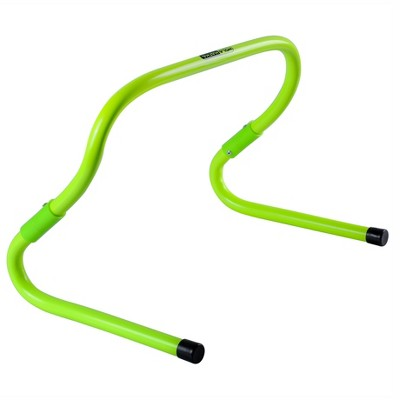 HolaHatha Football and Soccer Training Sports Equipment Speed Agility Hurdle 8 to 11.8 Inch Height Adjustable, Easy Storage, Bright Green