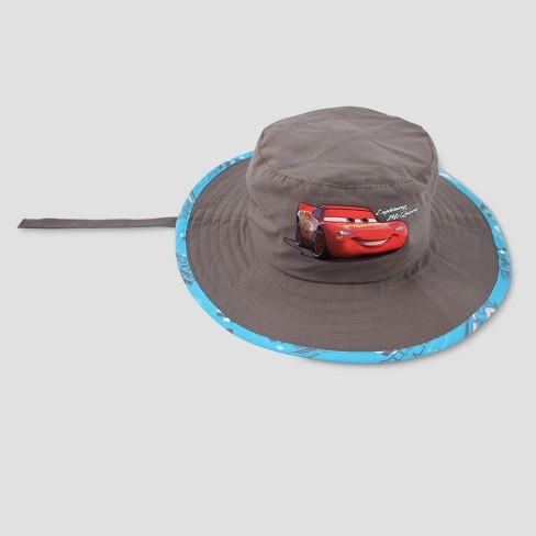 size 40 35604 2fbbd Toddler Boys  Disney Cars Lightning McQueen Safari Sun Hat - Gray One Size