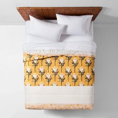 Yellow Desert Rose Pieced Quilt (Full/Queen)- Opalhouse™