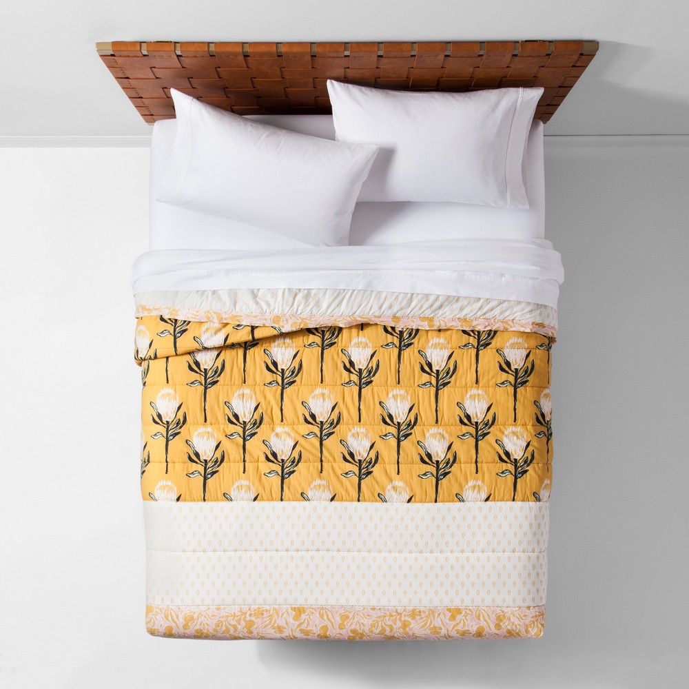 Yellow Desert Rose Pieced Quilt (King) - Opalhouse