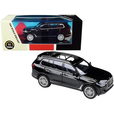 BMW X7 Black 1/64 Diecast Model Car by Paragon