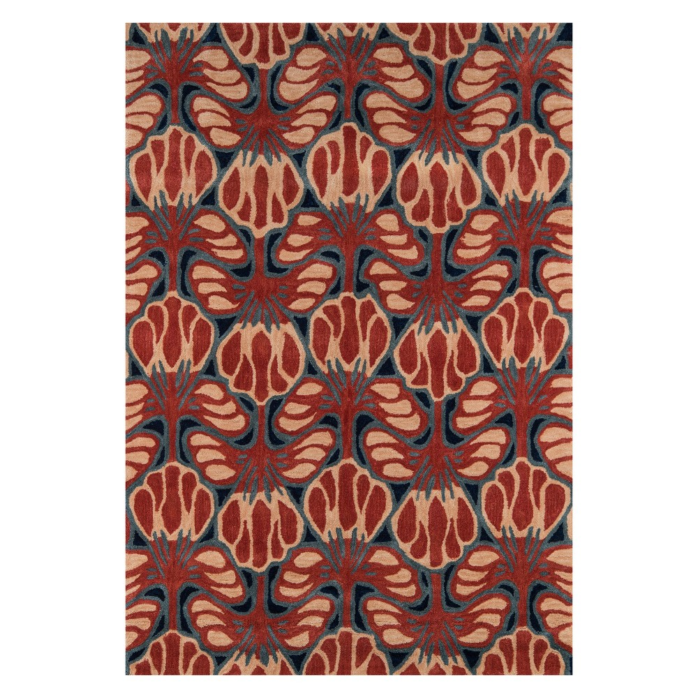 8'X10' Floral Tufted Area Rug Red - Momeni