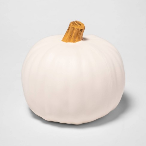 "9"" Cream Carvable Plastic Halloween Pumpkin - Hyde & EEK! Boutique™ - image 1 of 3"