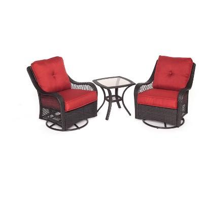 Merritt 3pc Woven Swivel Chair Patio Seating Seat - Cambridge