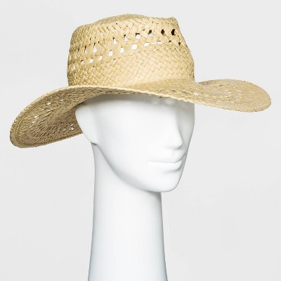 Women's Packable Woven Straw Boater Hat - Universal Thread™ Natural