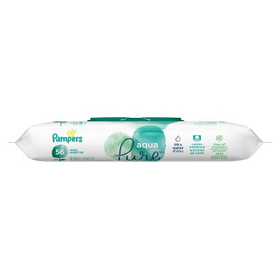 Pampers Aqua Pure Wipes - 56ct
