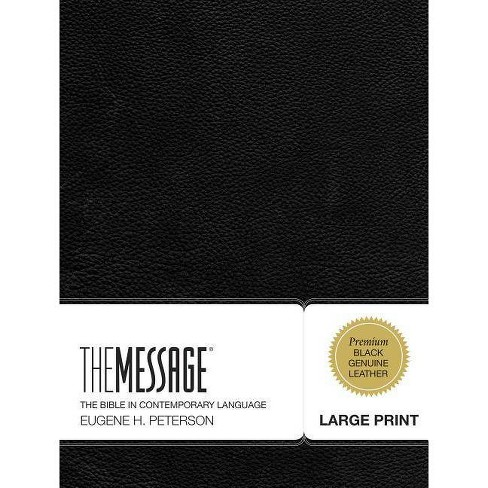 Message Large Print Bible-MS - (First Book Challenge) (Leather_bound)