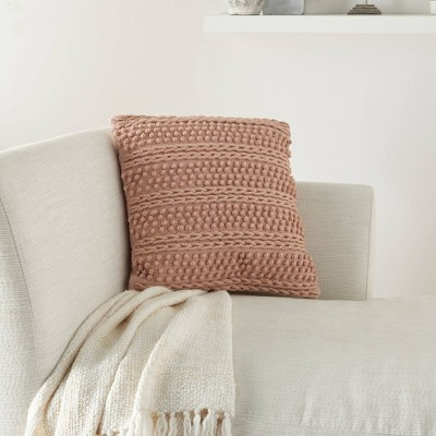 """18""""x18"""" Life Styles Woven Striped Square Throw Pillow - Mina Victory"""