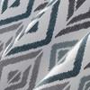 Hana Ikat Geometric Semi-Sheer Grommet Curtain Panel Teal - No.918 - image 3 of 4