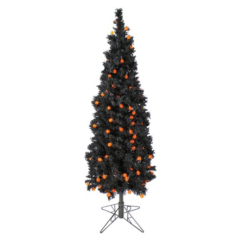Allstate Floral 6.5' Prelit Artificial Flocked Christmas Tree - Orange G25 LED Lights - image 1 of 1