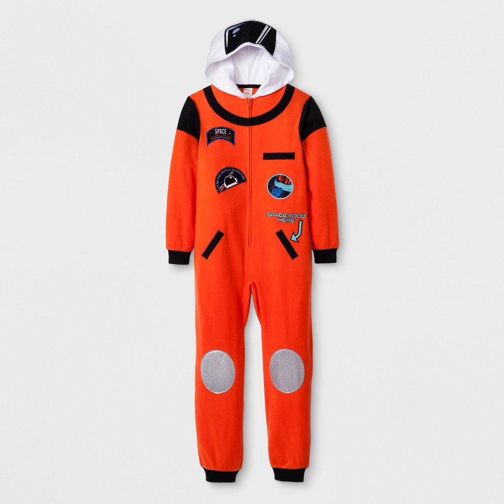 Boys' Astronaut Hooded Blanket Sleeper - Cat & Jack Orange XS