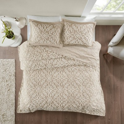 Amber Tufted Cotton Chenille Bedspread Set