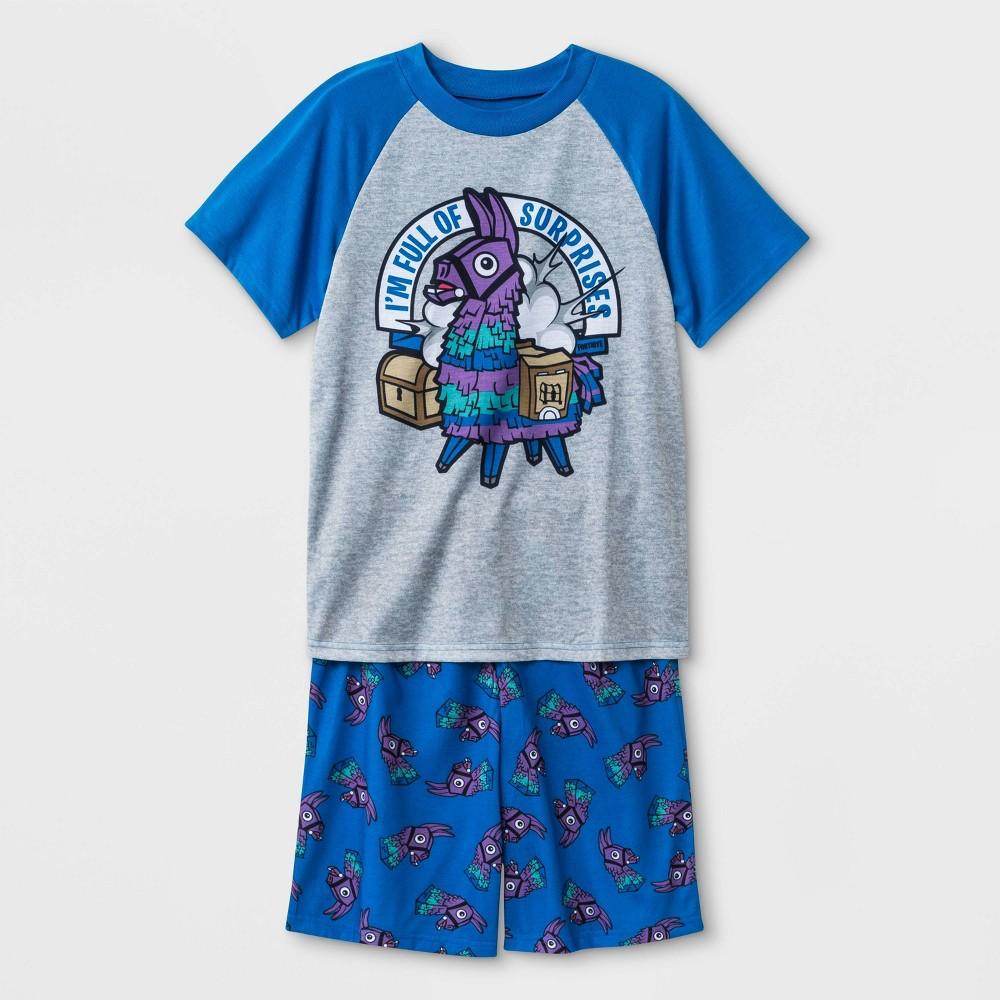 Image of Boys' Fortnite 2pc Pajama Set - Blue/Gray L, Boy's, Size: Large