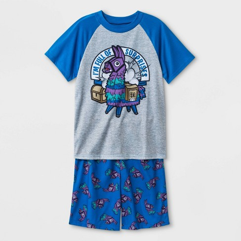 best quality for online here best selling Boys' Fortnite 2pc Pajama Set - Blue/Gray
