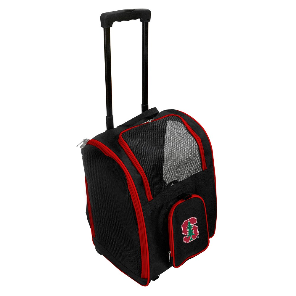 Stanford Cardinals Premium Wheeled Travel Dog and Cat Carrier, Stanford Cardinal