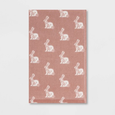 All Over Bunny Hand Towel Pink - Threshold™