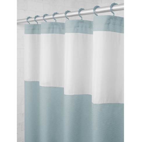 Smart Shower Curtains Hendrix View Fabric With Attached Hooks - Maytex - image 1 of 5