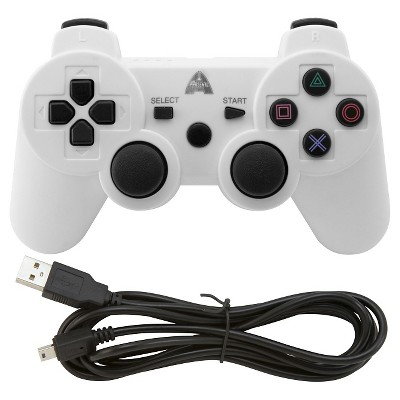 Arsenal Gaming AP3CON4W Bluetooth Controller - White PlayStation 3