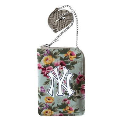 MLB New York Yankees Canvas Floral Smart Purse