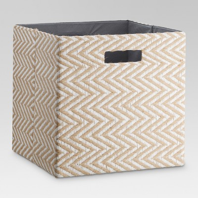 Fabric Cube Storage Bin 13  - Natural Wave - Threshold™