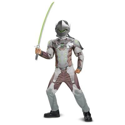 Kids' Overwatch Genji Halloween Costume Muscle Jumpsuit