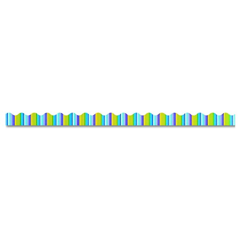 "TREND Terrific Trimmers Bright Border, 2 1/4"" x 39"" Panels, Cool Stripes, 12/Set - image 1 of 2"