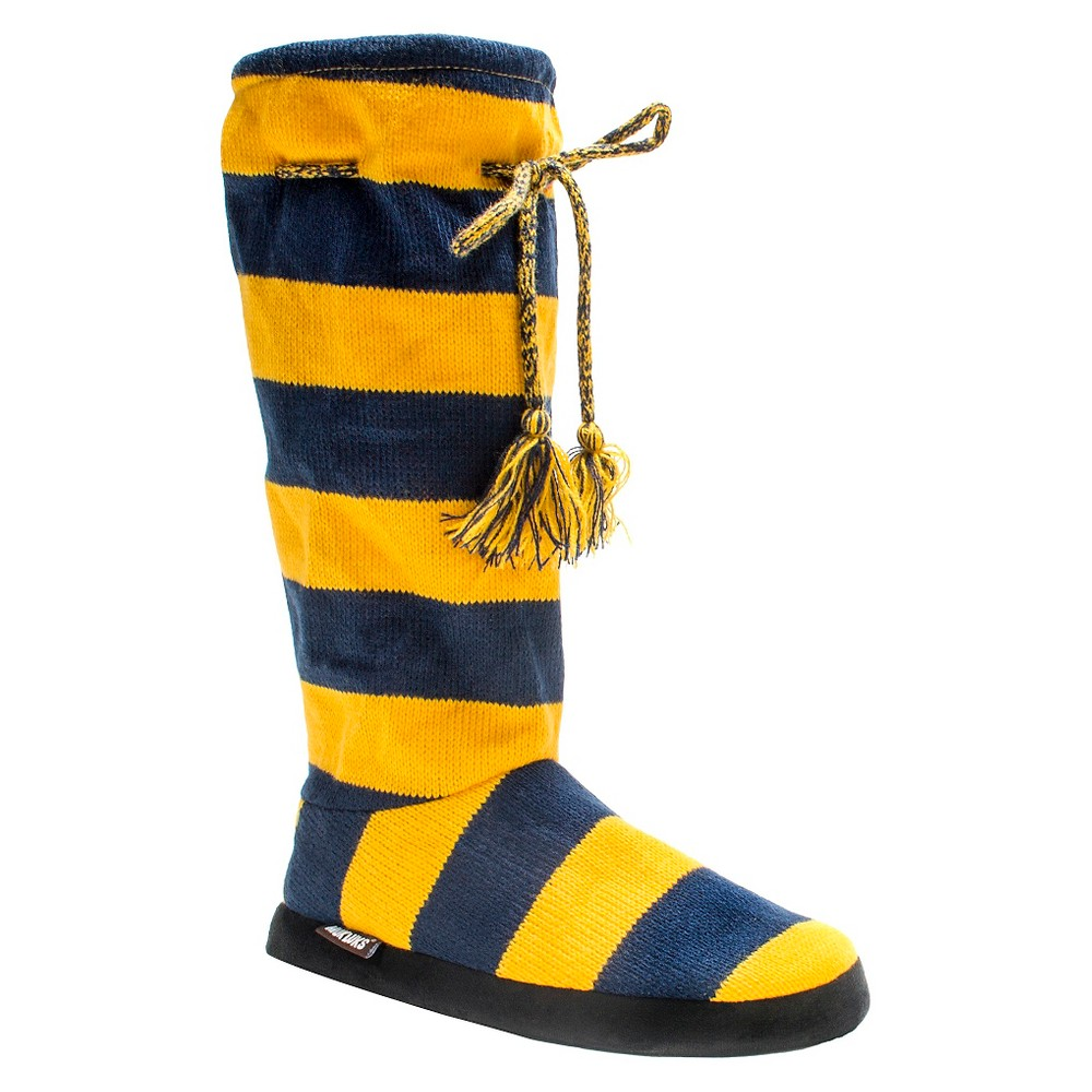 Women's Muk Luks Game Day Slipper Boots - Yellow L(9-10), Size: L (9-10)