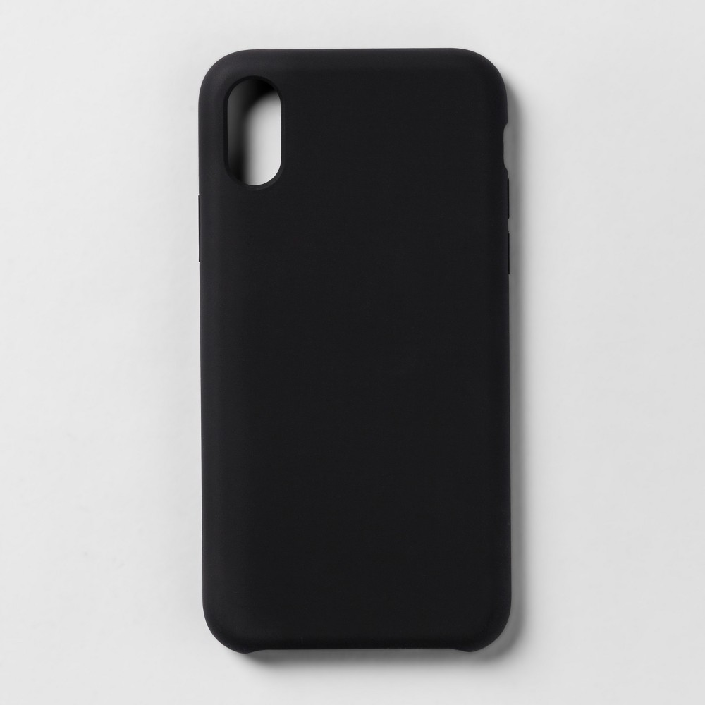 heyday Apple iPhone X Silicone Case - Tinted Black