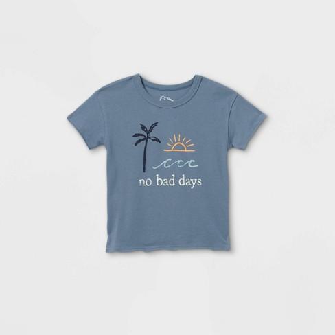 Toddler 'No Bad Days' Short Sleeve T-Shirt - art class™ Blue - image 1 of 2