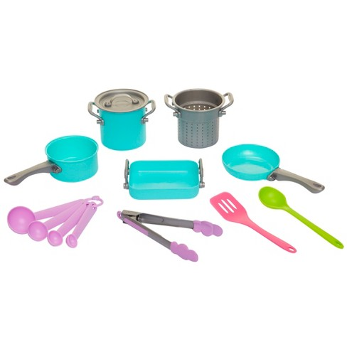 Perfectly Cute In the Kitchen Cookware Play Kitchen Accessory 14 Pc Set - image 1 of 4