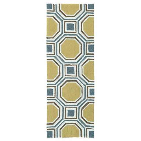 Escape Octagon Indoor/Outdoor Rug - Kaleen Rugs - image 1 of 3
